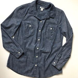 NWOT Old Navy polka dot button down